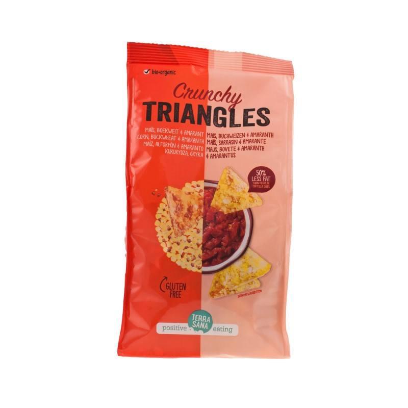 Triangulos de maiz, sarraceno y amaranto