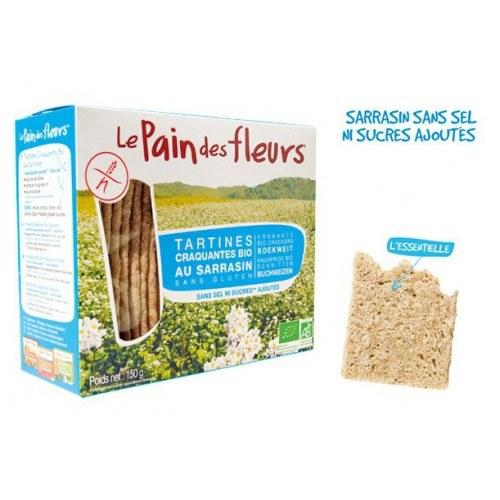 Pan crujiente de Trigo Sarraceno sin sal y sin sacarosa