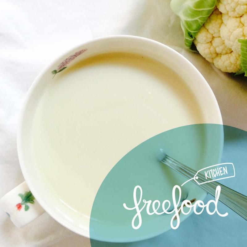 Crema de coliflor e hinojo al tomillo