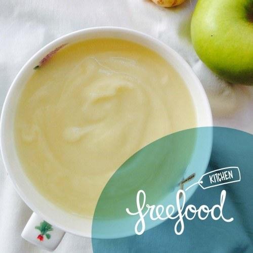 Crema de chirivía, celery y manzana