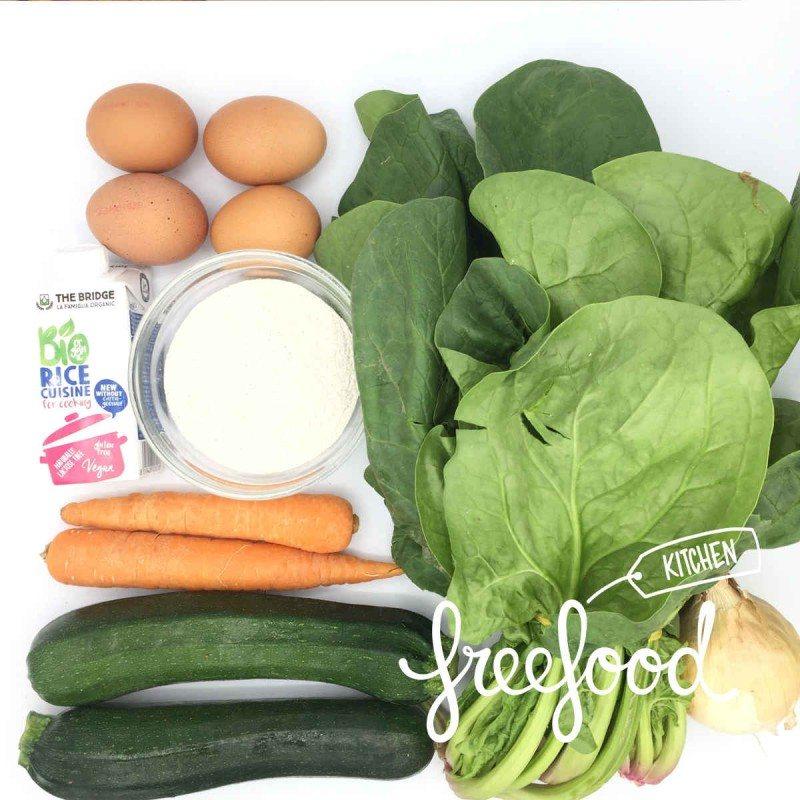 Pack de Tarta salada de calabacin y espinacas