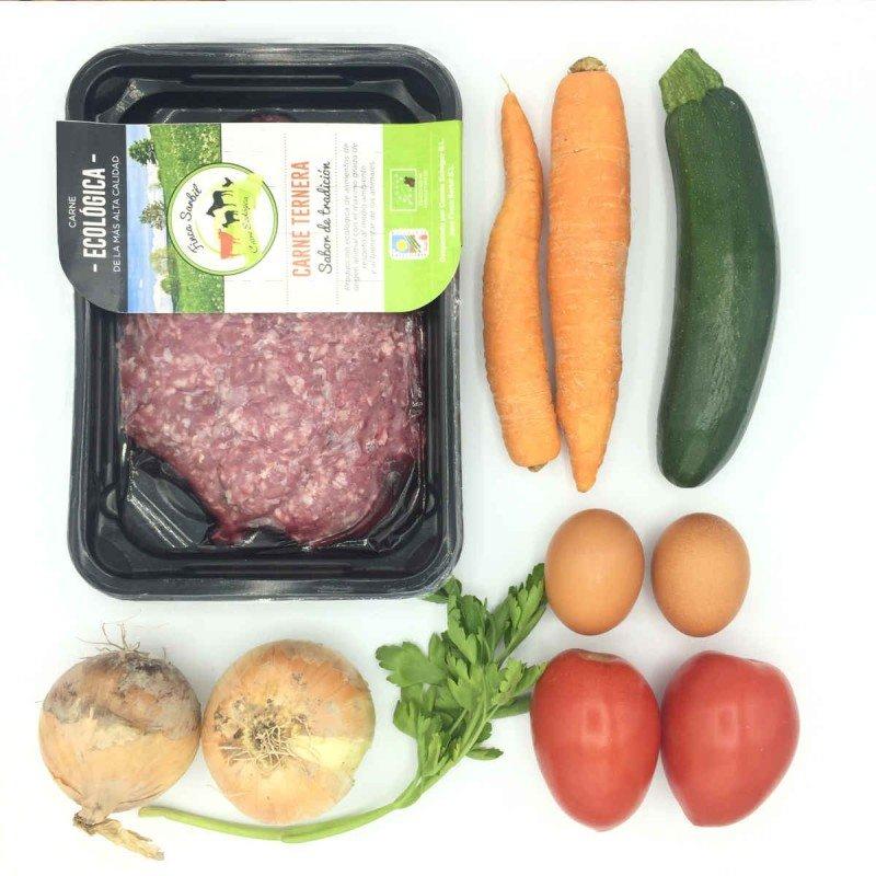 Pack de Pastel paleo de ternera con verduras asadas de primavera