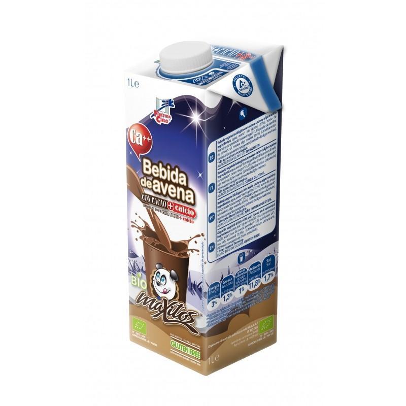 Bebida de avena con cacao y calcio