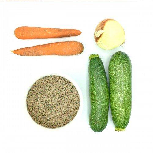 Pack de ensalada tíbia de lentejas con calabacín y zanahoria