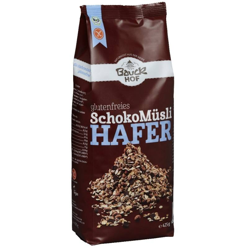Muesli de avena con chocolate