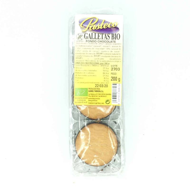 Galletas fondo de chocolate