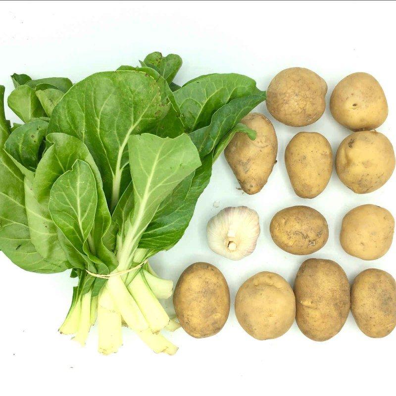 Pack de acelgas con patata y ajo frito