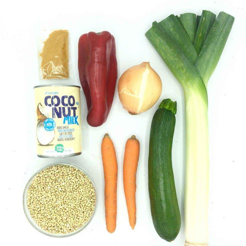 Pack de Curry De Sarraceno Con Verduras de primavera/verano Al Jengibre