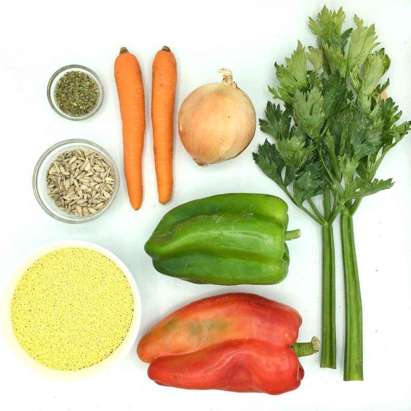 Pack de mijo integral con pimientos y semillas