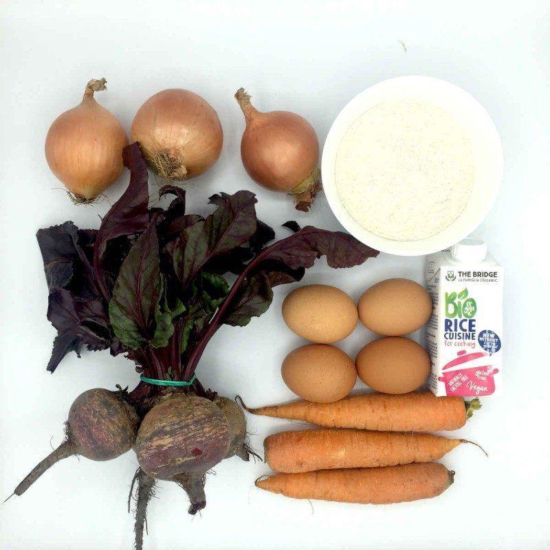 Pack de Tarta salada de remolacha, cebolla y zanahoria