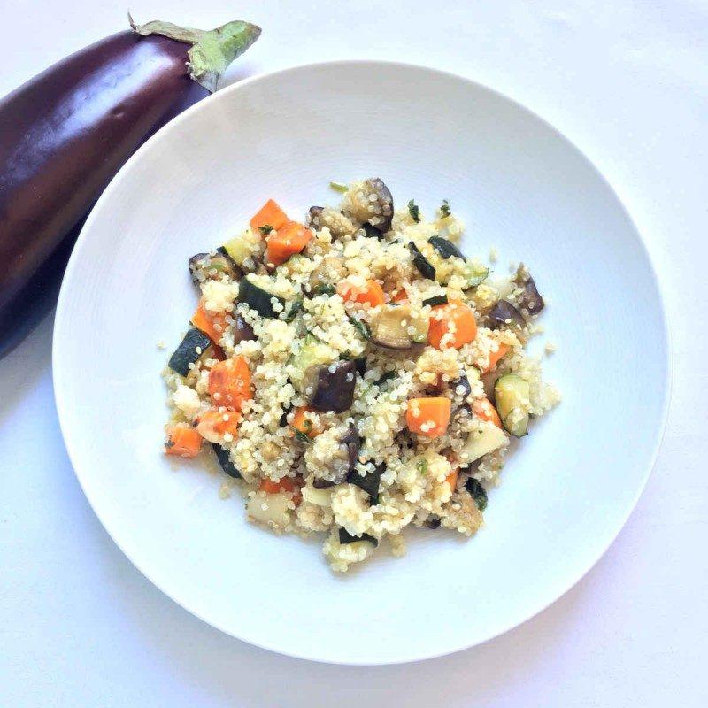 Quinoa con verduras asadas
