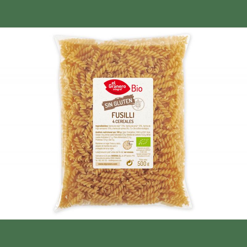Fusilli de 4 cereales - 500 g - Biogran