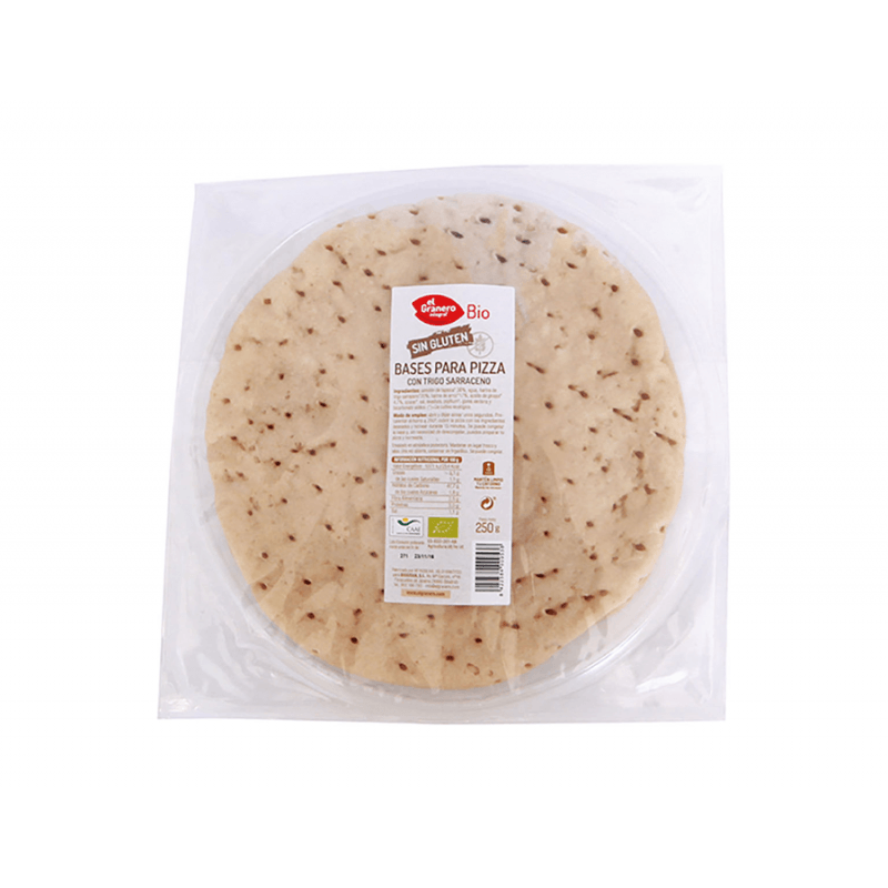 Base pizza con Trigo Sarraceno - 250gr - Biogran