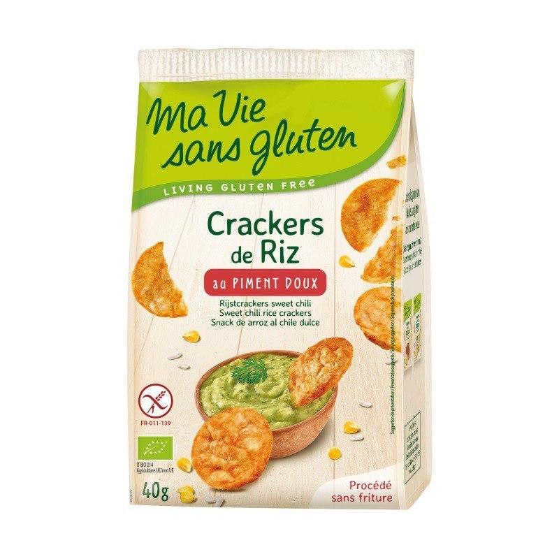 Cracker de arroz con pimenton - 40gr - Ma vie sans gluten