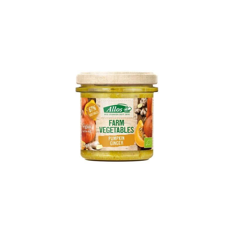 Paté vegetal de calabaza con jengibre - 135gr - Allos