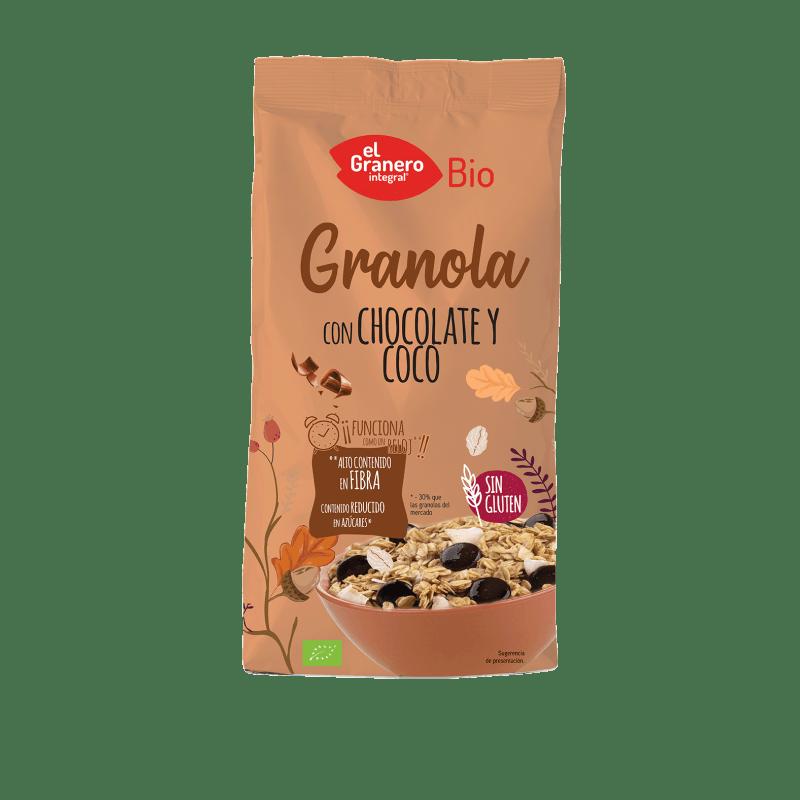 Granola con chocolate y coco – 350gr – Granero