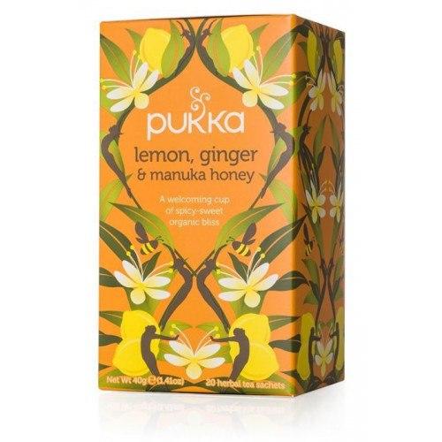 Infusión de Limón, jengibre y miel de Manuka