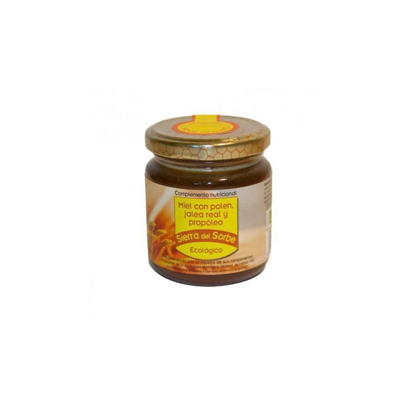 Miel con polen, jalea real y propóleo